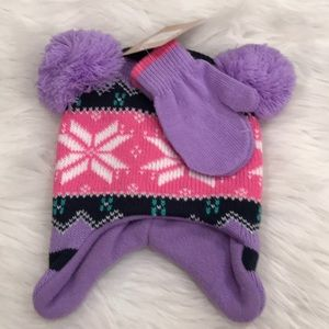 Other - Infant Girl's Hat/Mitten Set